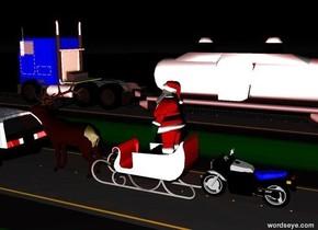 Santa is Stuck on the 405