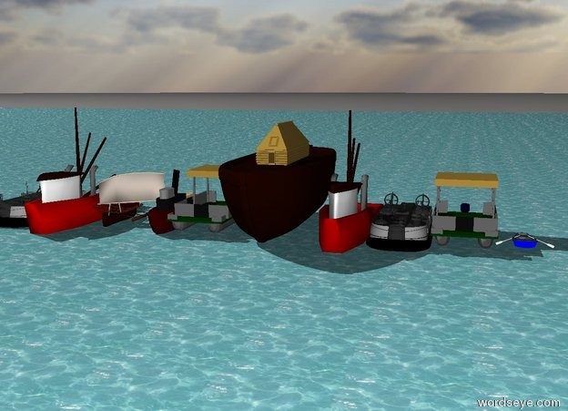 Input text: ten boats on the ocean