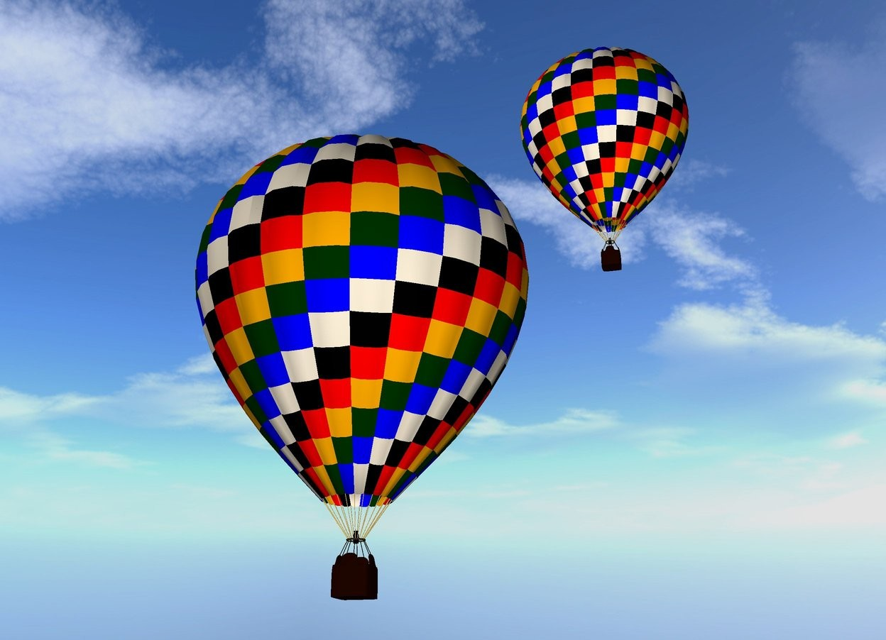 Balloons by Ketokeas (on WordsEye)