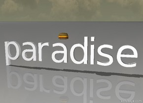 A cheeseburger in paradise.