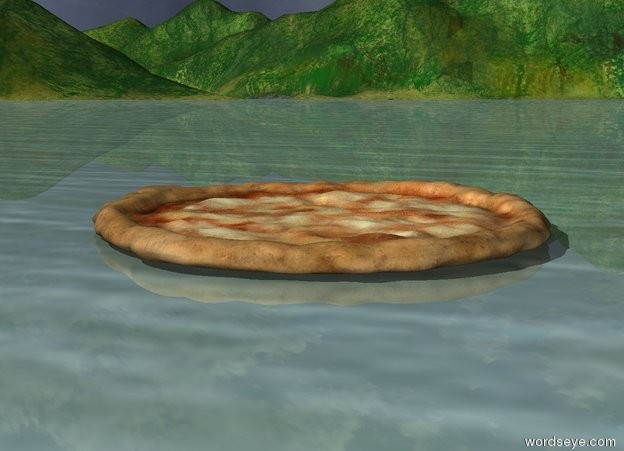 Input text: giant pizza