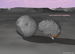 the brain is facing to the moon