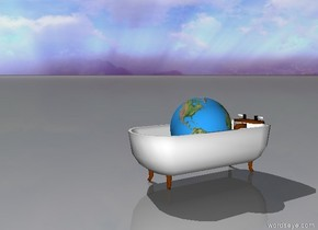 earth in a bathtub.