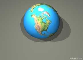 The globe is .9 feet in the ground.  The ash green light is .5 feet above the globe. The ground is pewter gray.