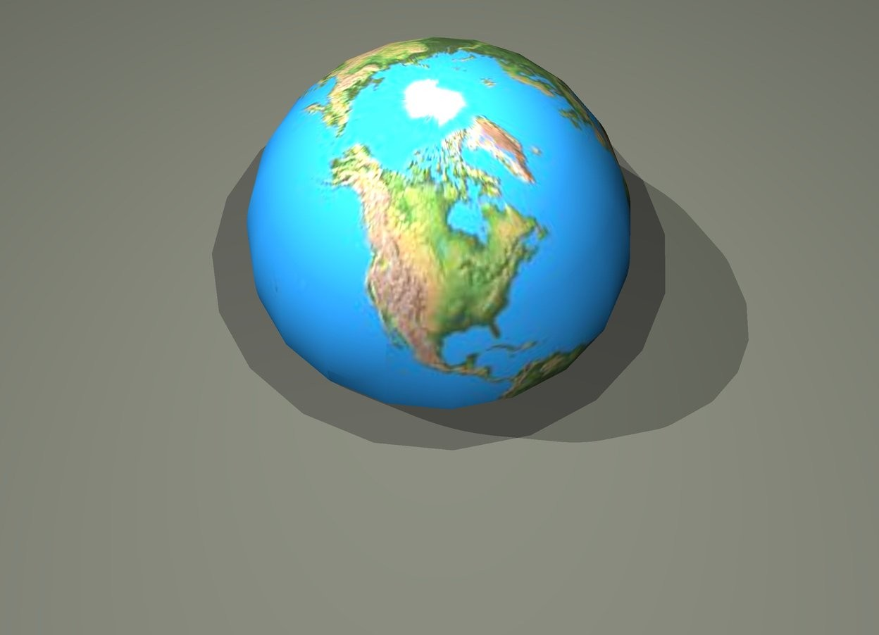 Input text: The globe is .9 feet in the ground.  The ash green light is .5 feet above the globe. The ground is pewter gray.
