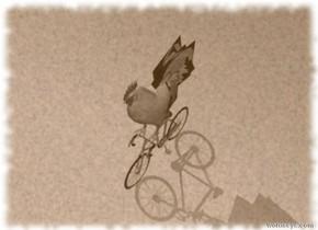 The huge bird is on the paisley vehicle