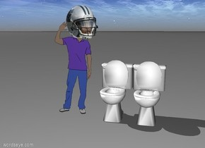 Cam Newton cleaning toilets