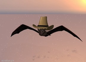 the small hat is -3 inches above the large bat. the ground is invisible