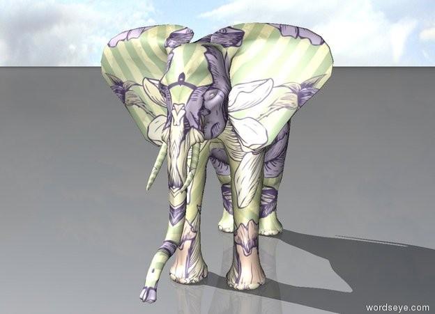 Input text: [flower] african elephant