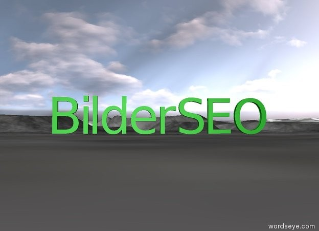 Input text: green SEO is on the right on the ground of green Bilder