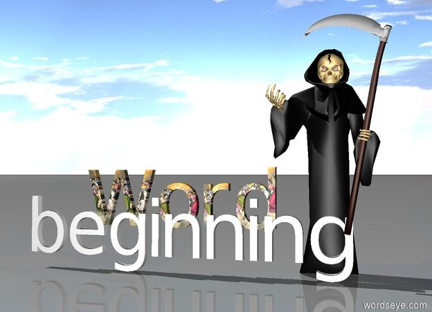 Input text: In the beginning was the Word.  The Word was with God. The Word was God.