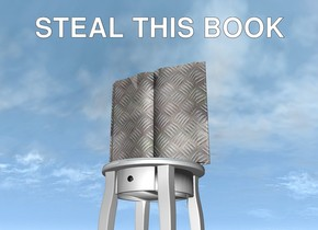 the [steel] book is on the table.