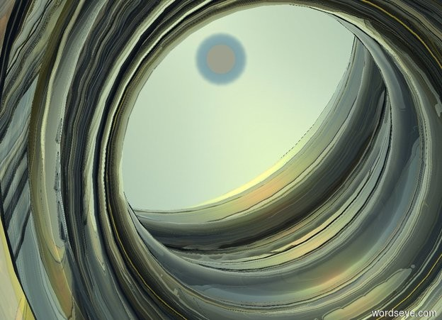 Input text: the glass tornado. the sun is autumn gold. it is noon. the ground is yellow
