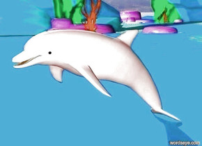 A pink dolphin