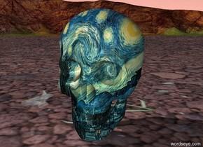 a huge van gogh skull