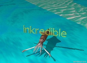 "The gold ""inkredible"" is above the squid."