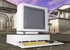 big white computer