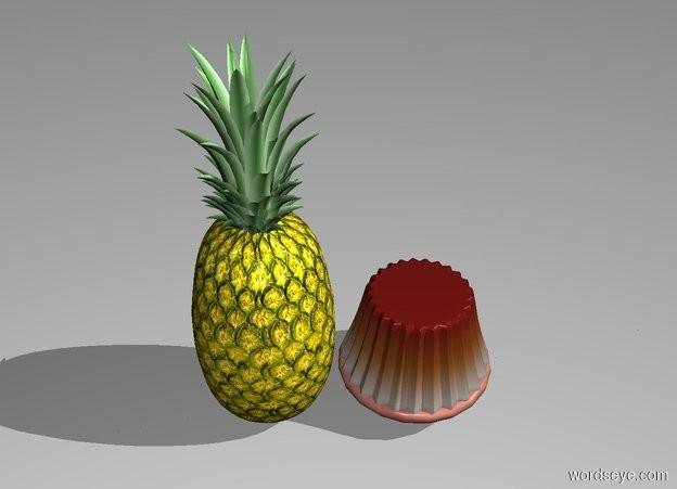Input text: pineapple. upside-down cake