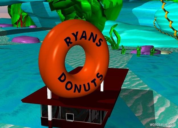 Input text: donut shop