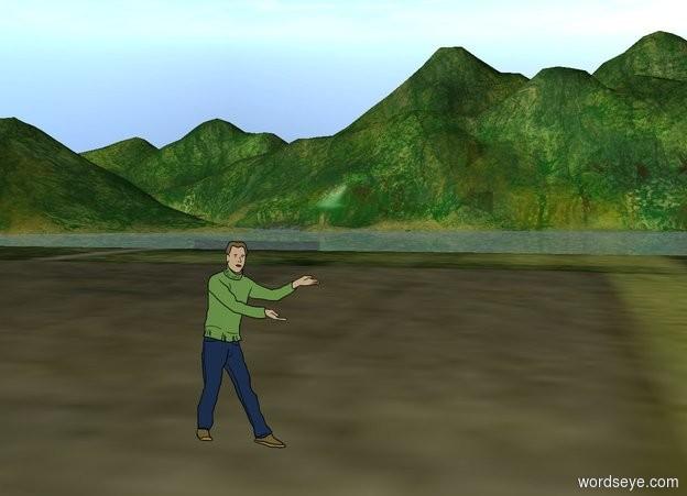 Input text: a man in a field