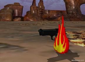 gun and fire