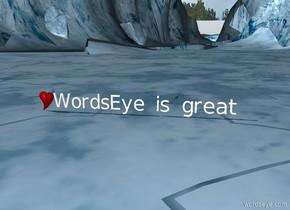 """""""WordsEye is great"""". A heart"""