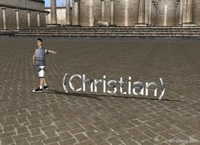 cat  football  boy's   text (Christian)