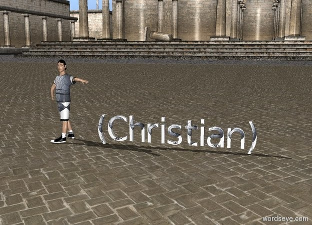 Input text: cat  football  boy's   text (Christian)