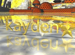 "gold ""kayden"". gold ground.  gold baseball"