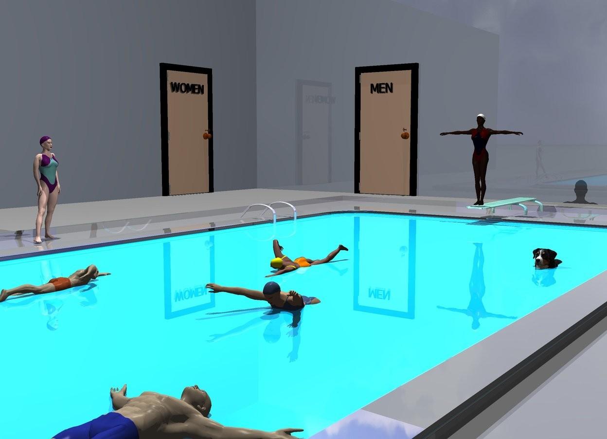it 39 s fun to swim at the y m c a by nheiges on wordseye