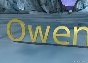 """gold """"Owen"""" """"rainbow background"""""""
