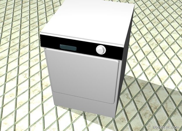 Input text: A dishwasher is in a kitchen
