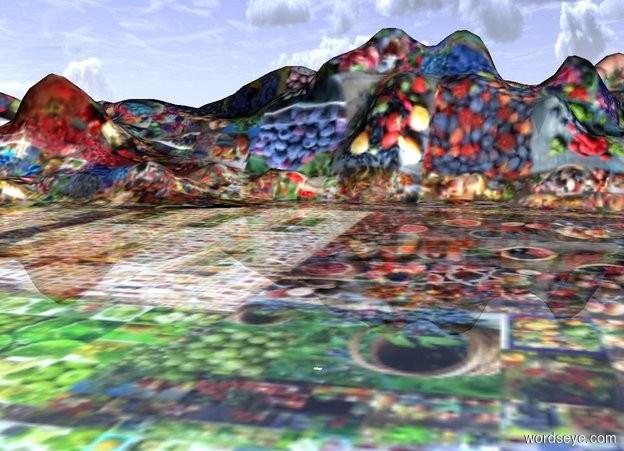 Input text:  [Mosaic-1] valley