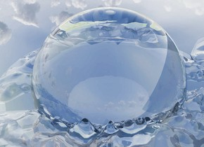 a glass valley. a 800 feet wide 1st glass sphere is 400 feet in the ground.