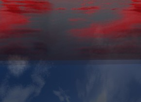 a  red [cloud] one mile wide 600 foot tall  wall. The ground is [ice]. The ground is transparent
