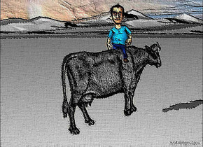 a   [picture].  a 10 inch tall man is -3.5 inch above the [picture].the man is facing southwest.ground is 650 inch wide [grass].