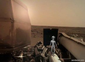 The [image-12296] backdrop. The alien.