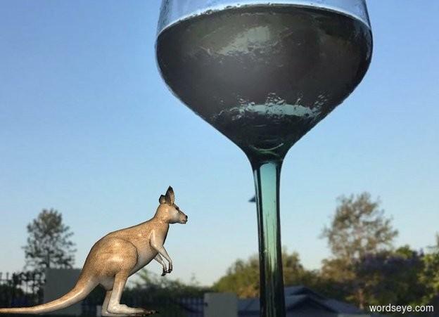 Input text: The [image-12316] backdrop. The kangaroo.