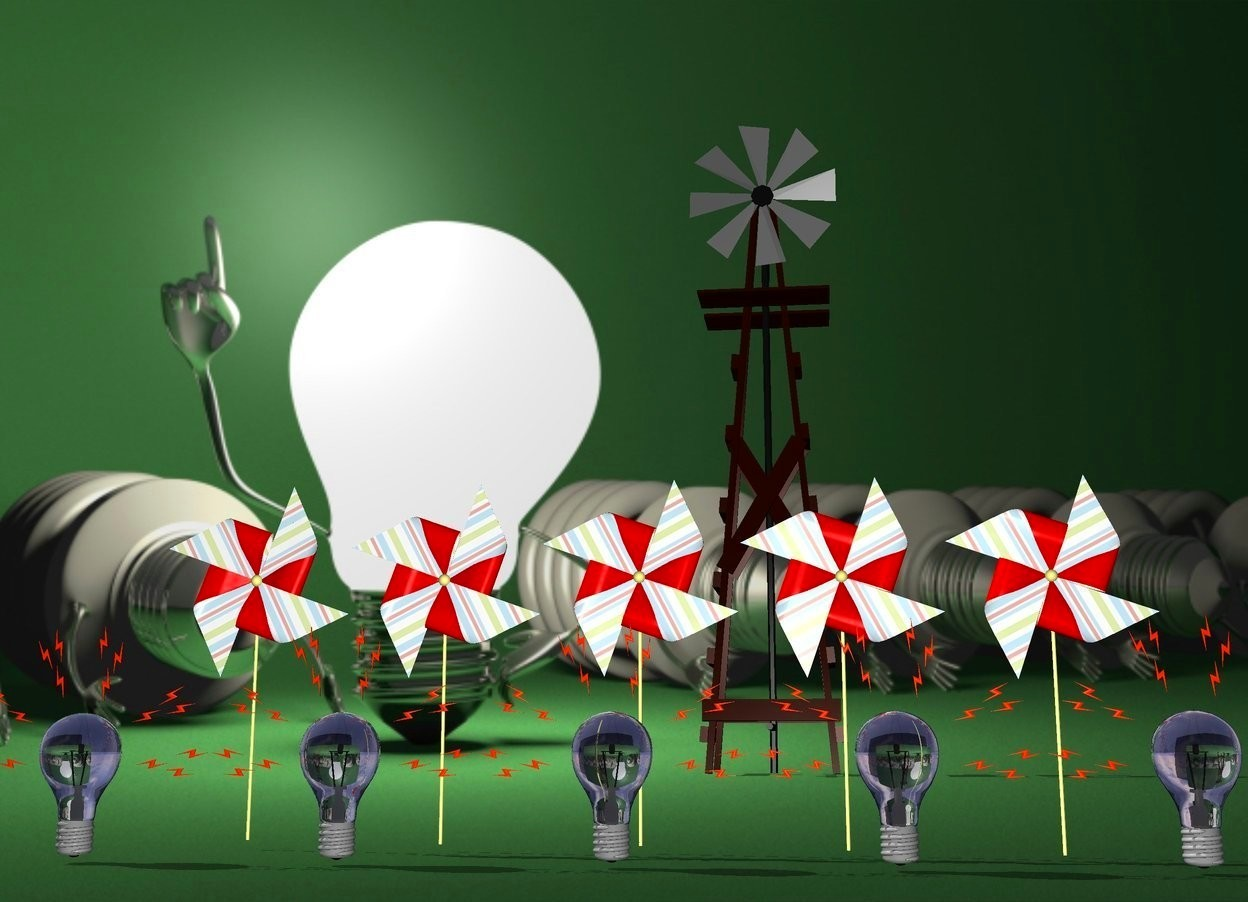 Input text: there are 5 pinwheels.there are 5 lightbulbs 6 inches in front of the pinwheels.power backdrop.shadow plane.a small windmill is 15 feet behind the pinwheels.