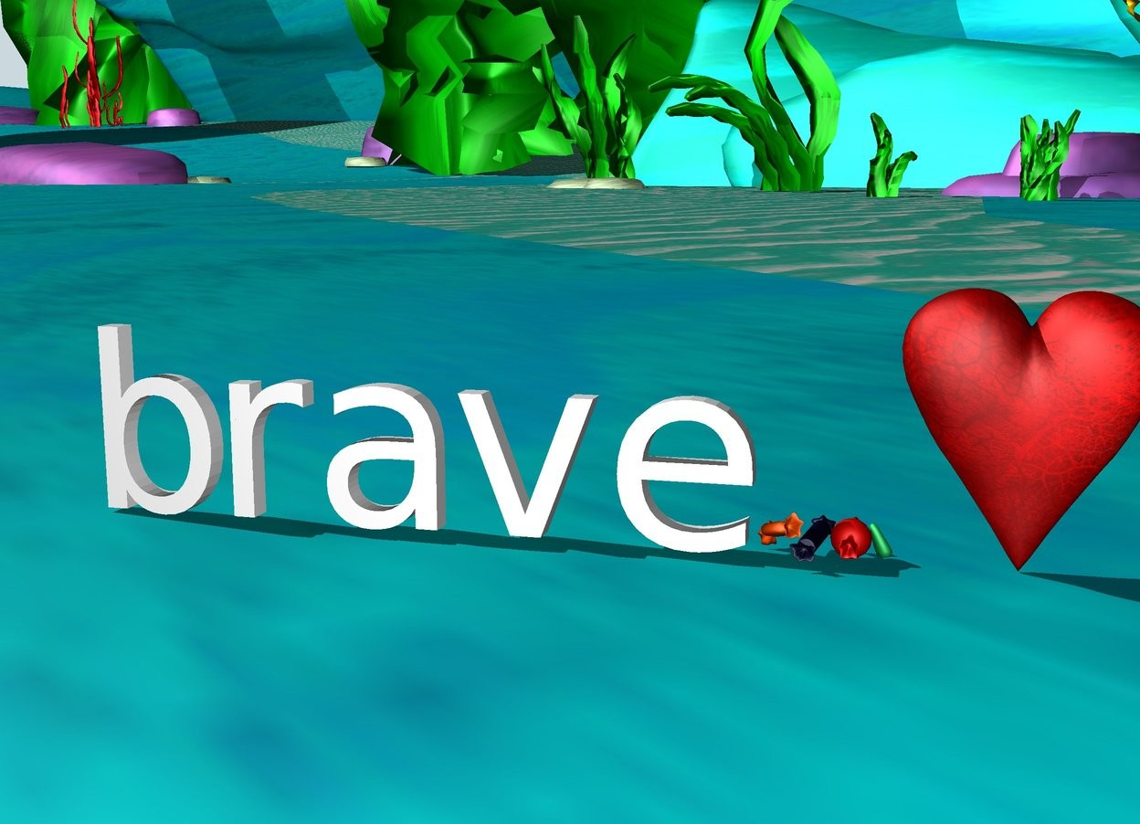 Input text: Fortune and love favor the brave.