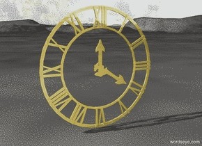 wall clock . The wall clock is gold.