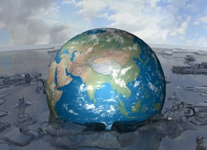 a glass valley . a 600 feet wide 1st earth. The earth is 200 feet in the ground .