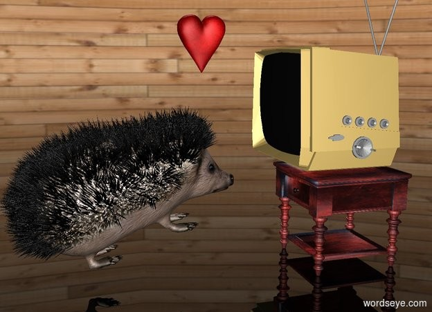 Image result for hedgehog in front of tv