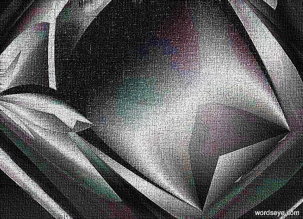 Input text: a shiny octahedron.
