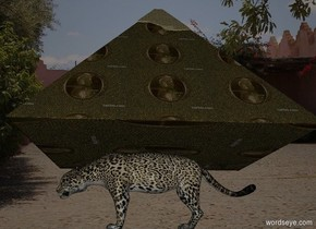 the money pyramid is on a 13 foot tall jaguar