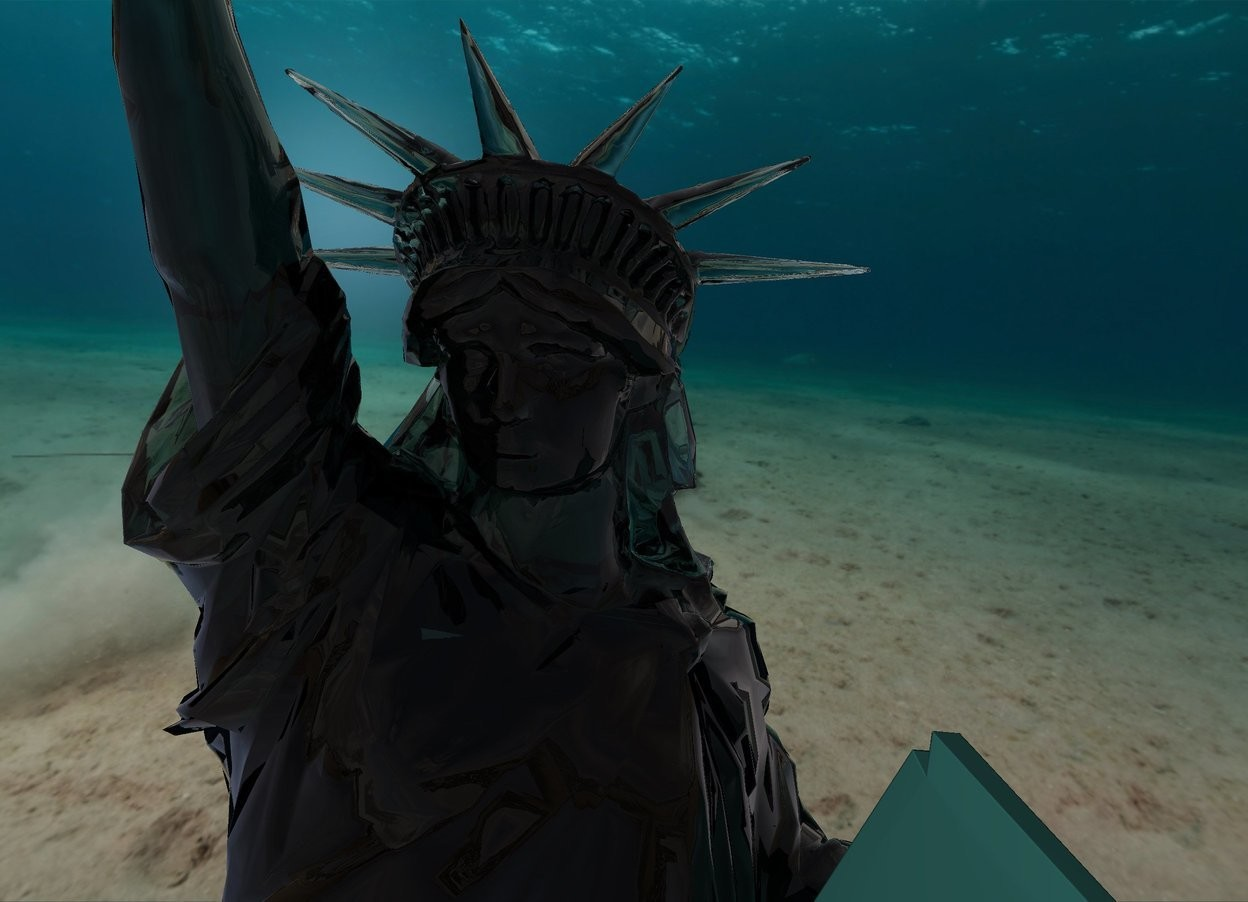 Input text: transparent statue of liberty.