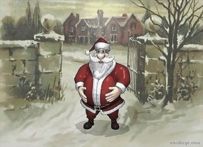 the image backdrop.  the santa. the shadowplane is 20% dark. it is noon.