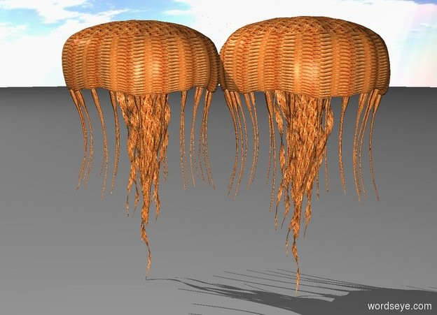Input text: There is a 100 foot tall fire jellyfish.