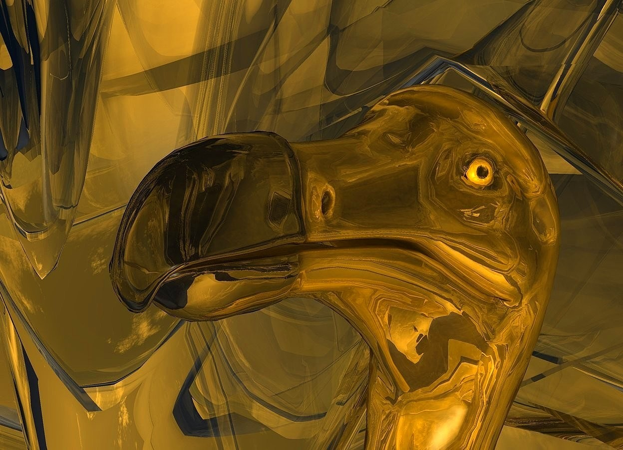 Input text: a 100 inch tall shiny orange dodo.ground is clear.ground is 100 feet tall and 170 feet deep and 2500 feet wide.sun is orange.a 2000 inch tall   gold illuminator.
