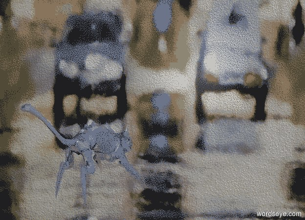 Input text: a [HT] backdrop.a 20 inch tall shiny petrol blue cat.